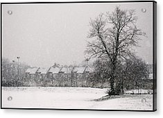 Snow Scape London Sw Acrylic Print by Lenny Carter