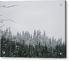 Snow Tops Acrylic Print