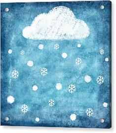 Snow Winter Acrylic Print