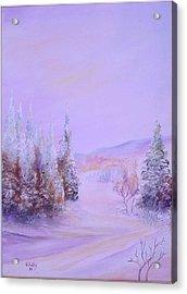 Snow1 Acrylic Print by Nabil Wehbe
