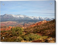 Acrylic Print featuring the photograph Snowcapped Foothills by Marta Alfred