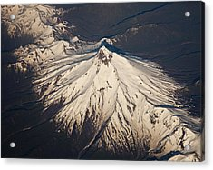 Snowcovered Volcano Andes Chile Acrylic Print by Colin Monteath