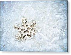 Snowflake Acrylic Print by Darren Fisher