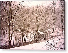 Snowy Country Day Acrylic Print