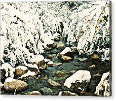 Acrylic Print featuring the photograph Snowy Creek by Clarice  Lakota