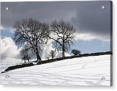 Snowy Field, Weardale, County Durham Acrylic Print by John Short