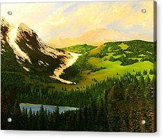 Snowy Mountain Acrylic Print by Nelson
