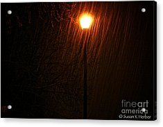 Snowy Night Acrylic Print by Susan Herber