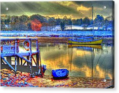 Snowy River Sunset Acrylic Print by Jane James