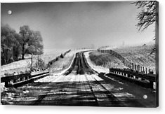 Snowy Road Acrylic Print by Brent Craft