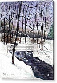 Snowy Shawnee Stream Acrylic Print