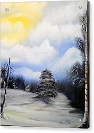Snowy Sunshine Acrylic Print by Amity Traylor