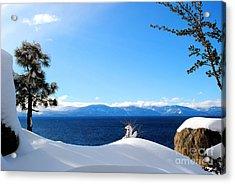 Snowy Tahoe Acrylic Print by Sean McGuire