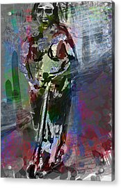 Sober Scooter Acrylic Print by James Thomas