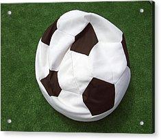 Soccer Ball Seat Cushion Acrylic Print by Matthias Hauser