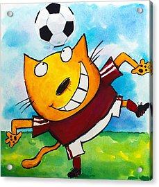 Soccer Cat 4 Acrylic Print by Scott Nelson