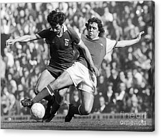 Soccer Tackle, 1976 Acrylic Print by Granger