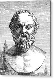 Socrates, Ancient Greek Philosopher Acrylic Print by