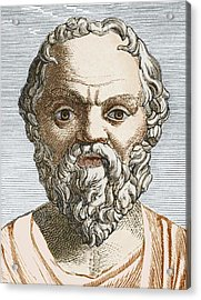 Socrates, Ancient Greek Philosopher Acrylic Print by Sheila Terry
