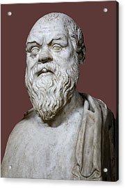 Socrates Acrylic Print by Sheila Terry