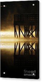 Soddy Pier Acrylic Print by Steven Lebron Langston