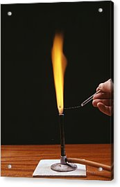 Sodium Flame Test Acrylic Print by Andrew Lambert Photography