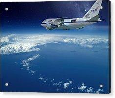 Sofia Airborne Observatory In Flight Acrylic Print by Detlev Van Ravenswaay