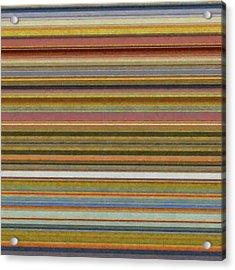 Soft Stripes L Acrylic Print by Michelle Calkins
