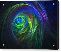 Soft Swirls Acrylic Print by Lyle Hatch