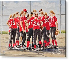 Softball Season Acrylic Print by Andrea Timm