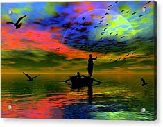 Acrylic Print featuring the digital art Solace by Shadowlea Is