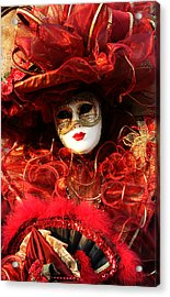 Acrylic Print featuring the photograph Solanges Hat Of Ribbons by Donna Corless
