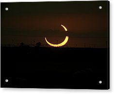 Solar Eclipse In Lubbock Texas Acrylic Print