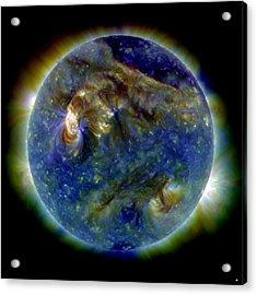 Solar Flare, 1 August 2010, Sdo Image Acrylic Print by Nasa