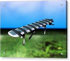 Solar Powered Aeroplane, Artwork Acrylic Print by Christian Darkin