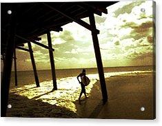 Solar Surf Acrylic Print by Jan Lakey