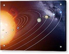 Solar System Orbits, Artwork Acrylic Print by Detlev Van Ravenswaay