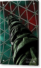 Solarised Totem Pole Acrylic Print by Urban Shooters