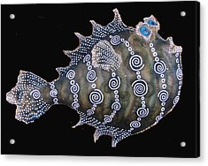 Sold Peter The  Puffer Acrylic Print by Dan Townsend