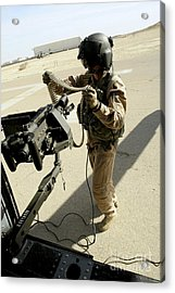 Soldier Carries 7.62 Mm Rounds Acrylic Print