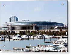 Soldier Field Chicago Acrylic Print by Paul Velgos