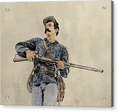 Soldier Of Gettysburg Acrylic Print by Randy Steele