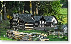 Acrylic Print featuring the photograph Soldiers Quarters At Valley Forge by Cindy Manero