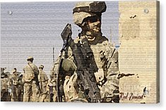 Soldiers. Acrylic Print by Red Deviant