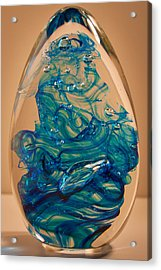 Solid Glass Sculpture E10 Acrylic Print by David Patterson
