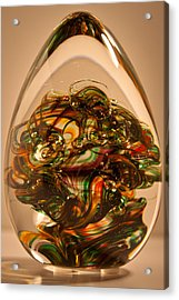 Solid Glass Sculpture E1p Acrylic Print by David Patterson