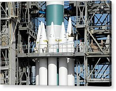 Solid Rocket Boosters Are Attached Acrylic Print by Stocktrek Images