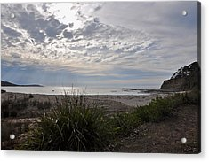Solitary Sea Kayak At Dawn In Australia Acrylic Print