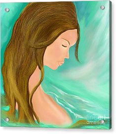 Acrylic Print featuring the drawing Solitude 1 by Lori  Lovetere