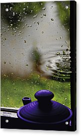 Acrylic Print featuring the photograph Solitude By The Window by Itzhak Richter